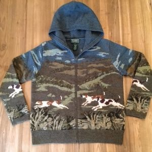 Lauren by Ralph Lauren Hunting Dog Hooded Sweater